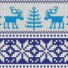 Как связать свитер с оленями на спицах