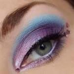 фиолетовые и голубые тени